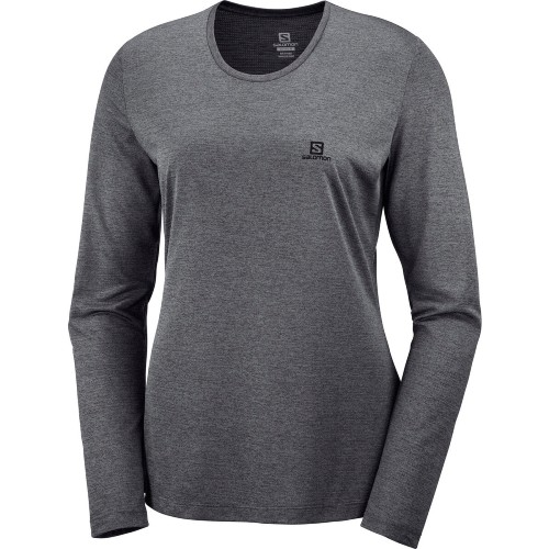 Salomon Agile LS Tee Women's Ebony/Black/Heather