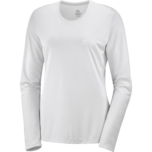 Salomon Agile LS Tee Women's Light Grey Sag/Heather