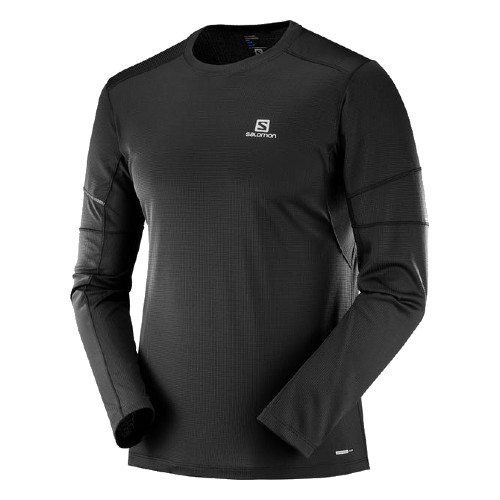 Salomon Agile LS Tee Men's Black