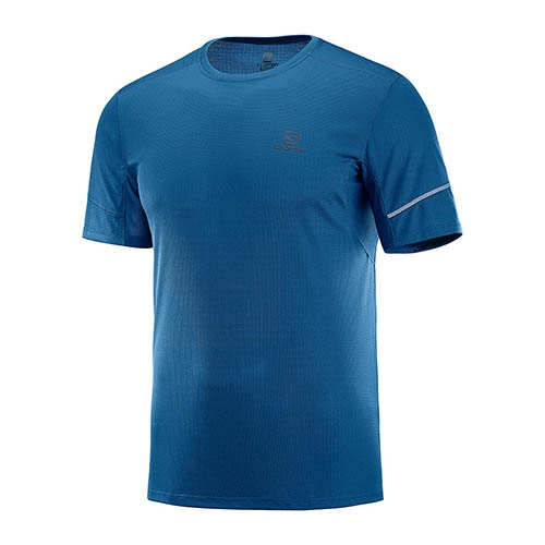 Salomon Agile SS Tee Men's Poseidon