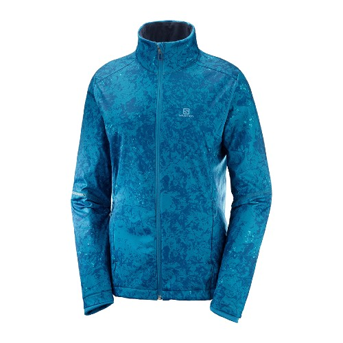 Salomon Agile Warm Jacket Women's Lyons Blue