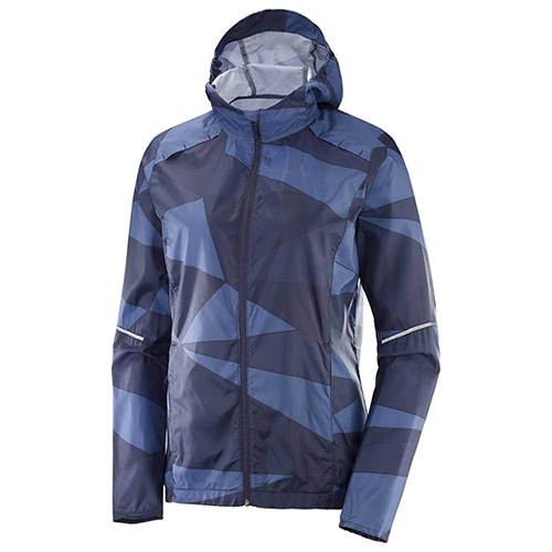 Salomon Agile Wind Print Hood Women's Night Sky/ Graphite