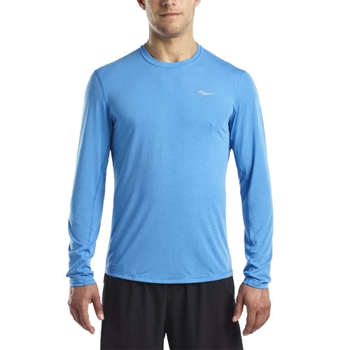 Saucony Freedom Long Sleeve Men's Blue Aster