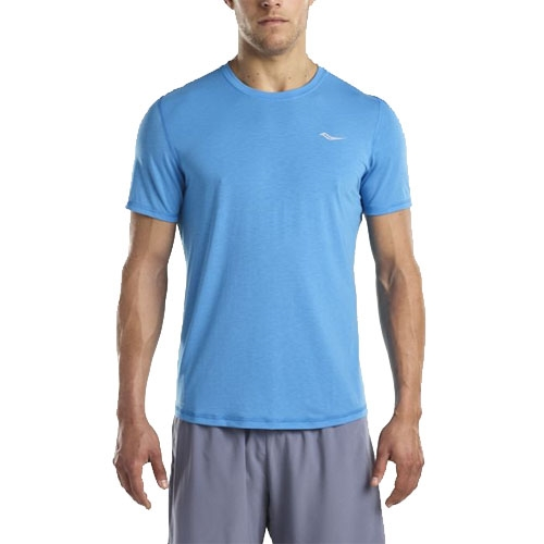 Saucony Freedom Short Sleeve Men's Blue Aster - Saucony Style # SAM800024-BA C18