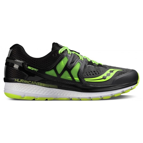 Saucony Hurricane ISO 3 Men's Grey/Black/Citron - Saucony Style # S20348-1 C18