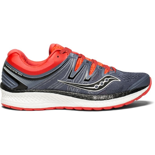 Saucony Hurricane ISO 4 Women's Grey/Black/Vizi Red