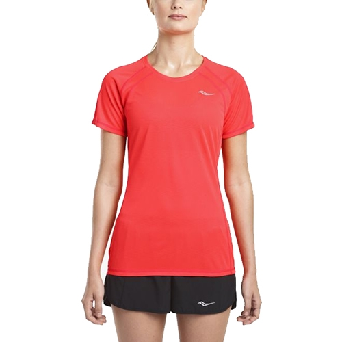 Saucony Hydralite Short Sleeve Women's Vizi Red - Saucony Style # SA81538-VR S18