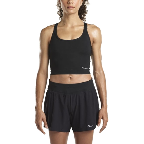 Saucony Impulse Crop Top Women's Black - Saucony Style # SAW800104-BK S18