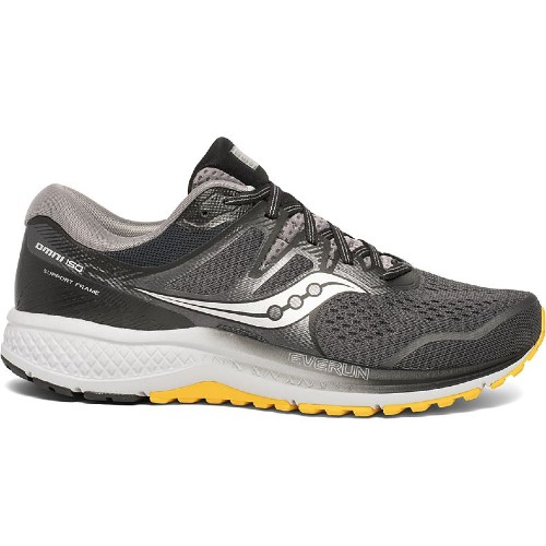 Saucony Omni ISO 2 Men's Grey/Black/Yellow