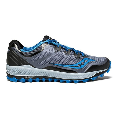 Saucony Peregrine 8 Men's Black/Grey/Blue