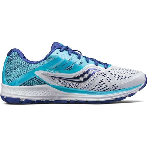 Saucony Ride 10 Women's White/Blue - Saucony Style # S10373-3 F17
