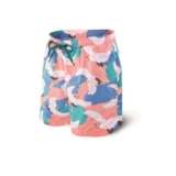 "Saxx Cannonball Swim 7"" Men's Mango Cranes"