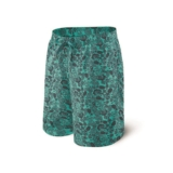 "Saxx Cannonball Swim Long 9"" Men's Green Jungle Jam"