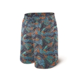 "Saxx Cannonball Swim Long 9"" Men's Blue Tropics"