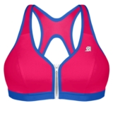 Shock Absorber Zippered Bra Women's Pink/Blue
