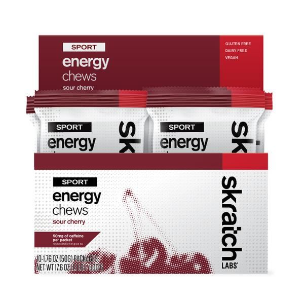 Skratch Sport Energy Chew (10) Sour Cherry 50g