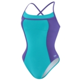 Speedo Colour Block Thin Strap Women's Scuba Blue