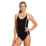 Speedo Colour Block Zip Front Women's Lava Grey/Black