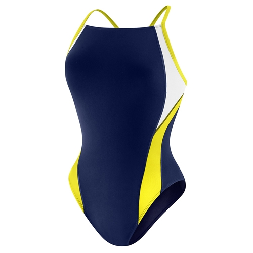 Speedo Launch Crossback (Y) Female Youth Navy/Gold
