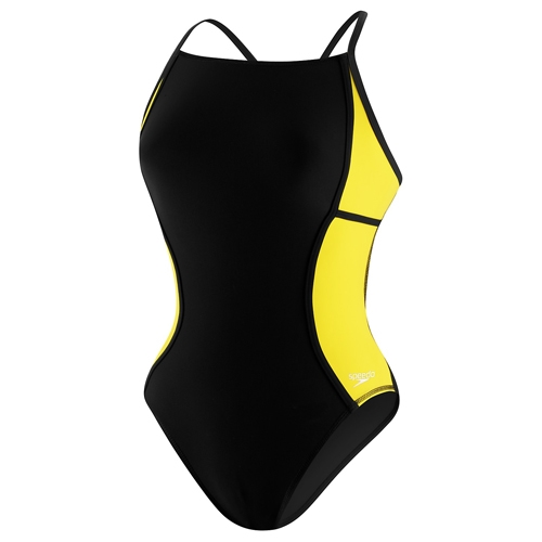 Speedo Sprint Splice Free Back Women's Black/Yellow