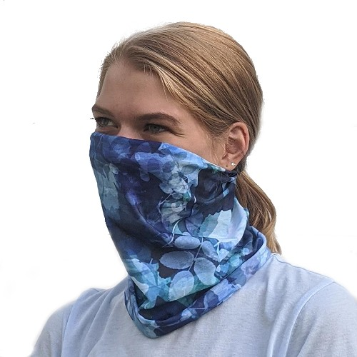 Sprigs Slink Face Covering Blue Floral