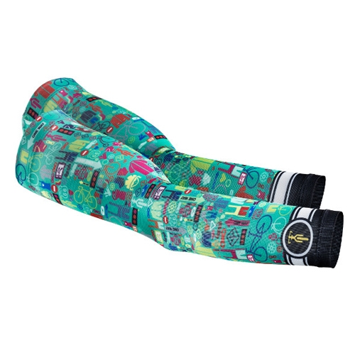 Sugoi I Heart Bikes Arm Sleeve Unisex Light Jade