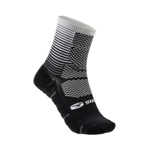 Sugoi RSR Quarter Sock Printed Unisex Light Grey Gradient