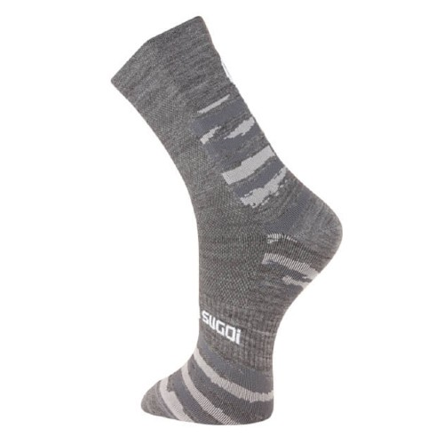 Sugoi Wool Crew Socks Unisex Dark Charcoal/Brush