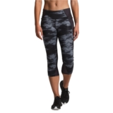 TNF Ambition Mid-Rise Crop Women's TNF Black Nebula Print