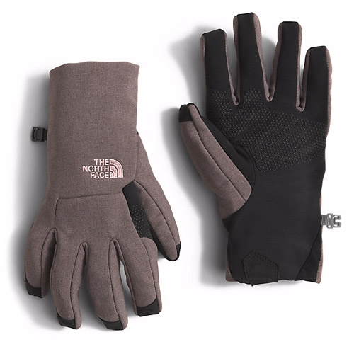 TNF Apex Etip Glove Women's Rabbit Grey Heather - The North Face Style # NF00A6L9HSR C16