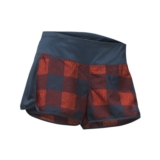 TNF Better Than Naked Short Women's Blue/Fire Brick Plaid