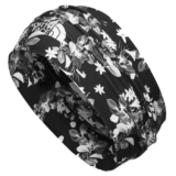 TNF Dipsea Half Headband Unisex Black Night Floral PRT