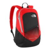 TNF Double Time Backpack Unisex Fiery Red/HighRise Grey