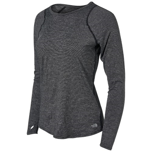 TNF Essential L/S Women's TNF Black Micro Stripe