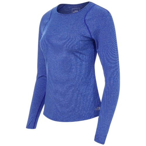 TNF Essential L/S Women's TNF Blue Micro Stripe