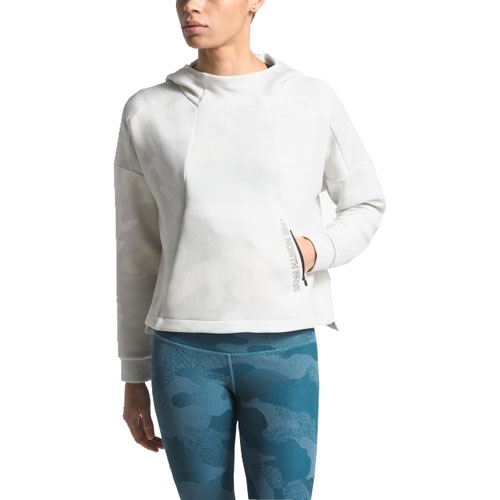 TNF Infinity Train Crop Hoodie Women's TNF White Waxed Camo