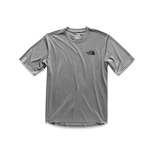 TNF LFC Reaxion S/S Crew Men's Grey Heather/TNF Black