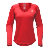TNF L/S Reaxion Amp Tee Women's Juicy Red/ Desert