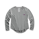 TNF L/S Reaxion Amp Tee Women's TNF Grey Heather/Phlox