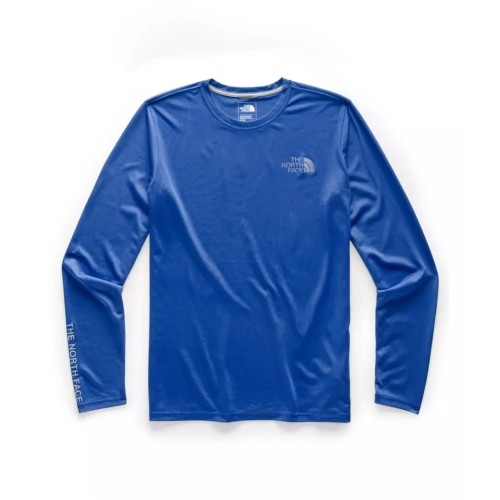 TNF L/S Reaxion Graphic Tee Men's TNF Blue