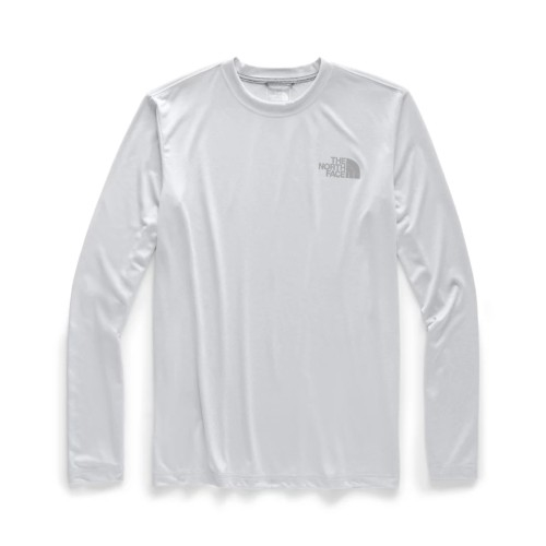 TNF L/S Reaxion Graphic Tee Men's TNF Light Grey Heather