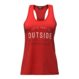 TNF Ma Mesh Play Hard Tank Women's Juicy Red Heather