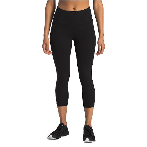 TNF Motivation High-Rise Crop Women's TNF Black - The North Face Style # NF0A3LN5.JK3 S19