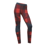 TNF Motus Tight III Women's Fire Red Plaid Print