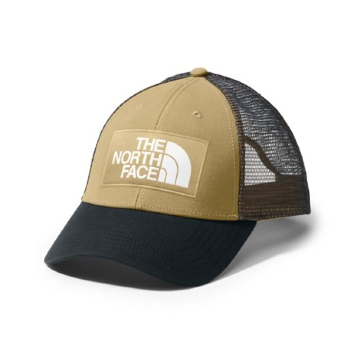 TNF Mudder Trucker Hat Unisex British Khaki/TNF Black