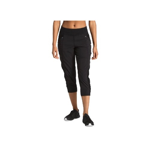 TNF On the Go Mid-Rise Crop Women's TNF Black