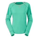 TNF Plyo L/S Crew Women's Billiard Green/Heather