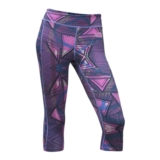 TNF Pulse Capri Tight Women's Sweet Violet Print