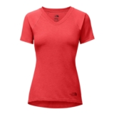 TNF Reactor V-Neck S/S Women's Juicy Red