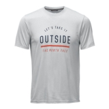TNF Reaxion Amp Graphic Tee Men's TNF Light Grey Heather